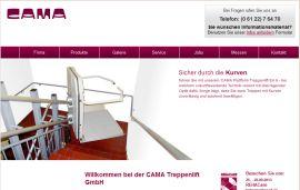 Cama Treppenlift cama gmbh plattformlifte aufzüge hebebühnen